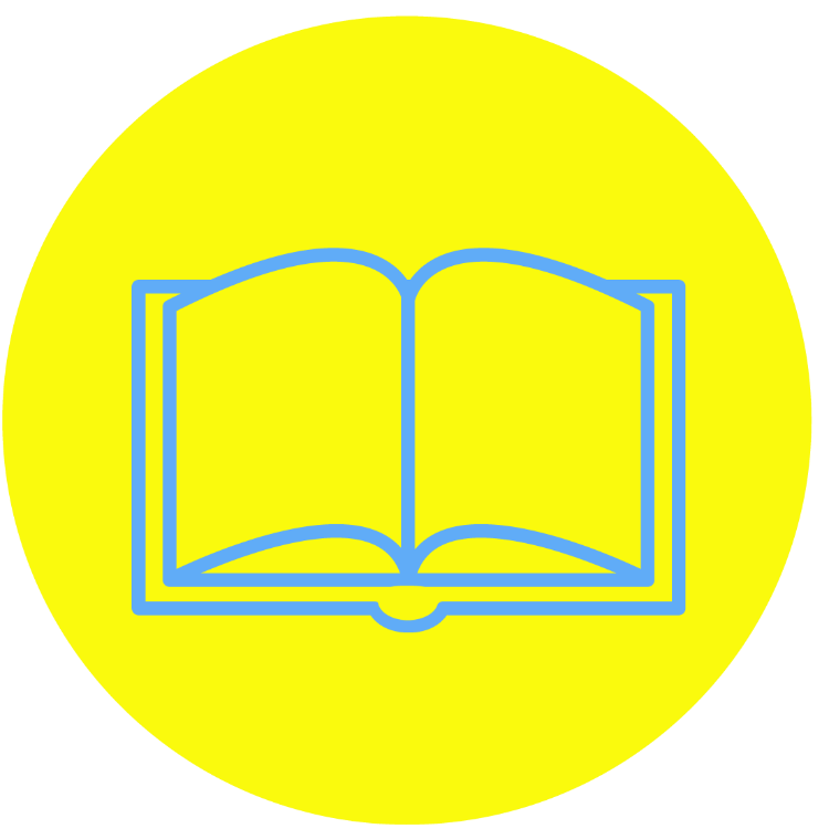 book yellow circle pmg
